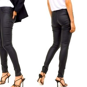 H&M pull on coated jeggings